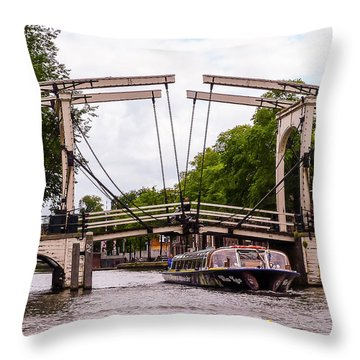 The Skinny Bridge Amsterdam Throw Pillow