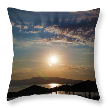 Throw Pillow featuring the photograph the Sky above Us by Milena Ilieva