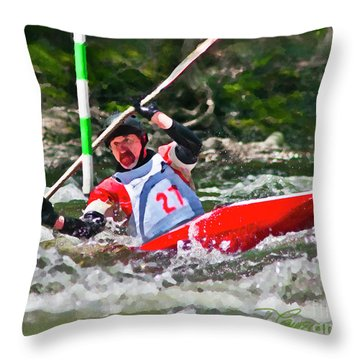 The Slalom Throw Pillow