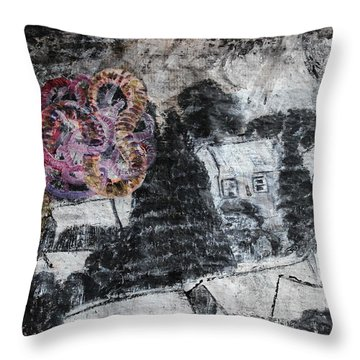 The Slow And Winding Tale Of Destruction Throw Pillow