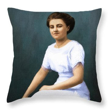 The Smile Throw Pillow