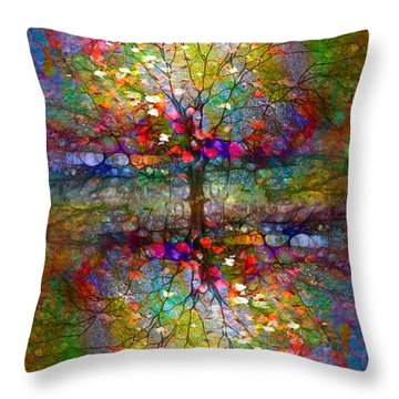 The Souls Of Leaves Throw Pillow