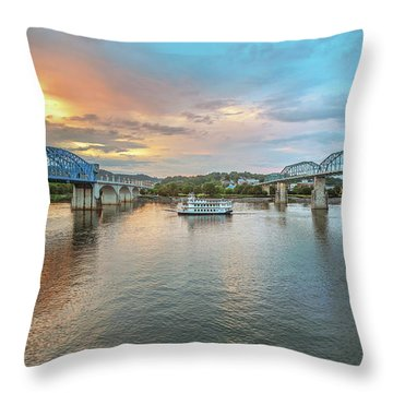 The Southern Belle Between The Bridges  Throw Pillow