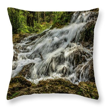 The Springs In It's Summer Green, Big Hill Springs Provincial Re Throw Pillow