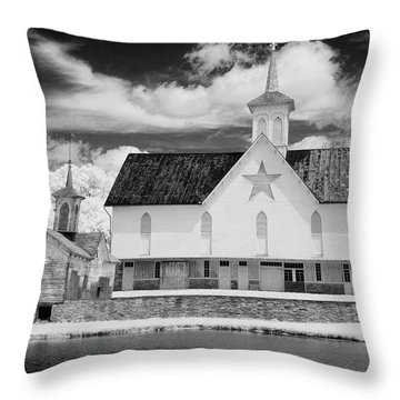 The Star Barn In Infrared Throw Pillow
