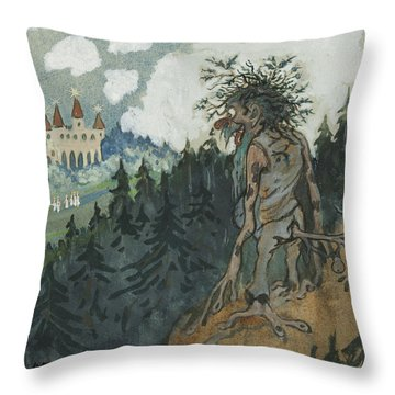 Throw Pillow featuring the photograph The Story Of The Six Princesses by Ivar Arosenius