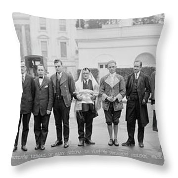 The Students League Of Many Nations Throw Pillow