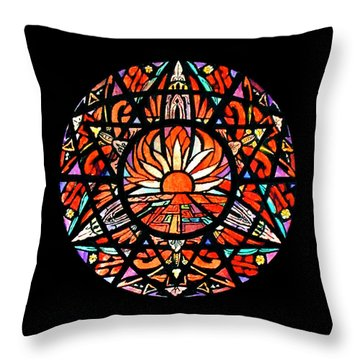 the Sun is Aflame Throw Pillow