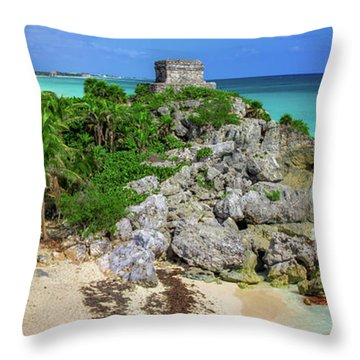 The Temple By The Sea Throw Pillow