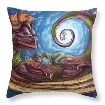 The Third Dream Of A Celestial Dragon Throw Pillow