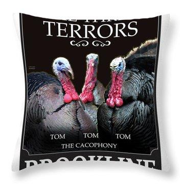 The Three Terrors Throw Pillow