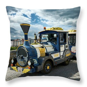The Touristic Train Of Ourense Throw Pillow