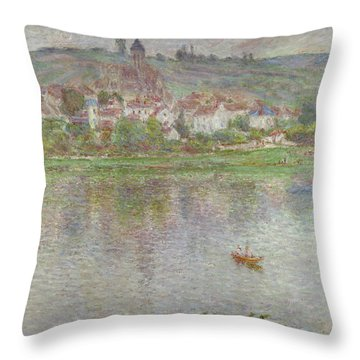 The Town Of Vetheuil, 1901 Throw Pillow