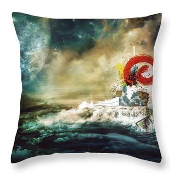 The Traffic Of The Whales Throw Pillow