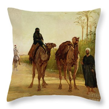 The Travellers, 1874  Throw Pillow