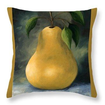 The Treasured Pear Throw Pillow