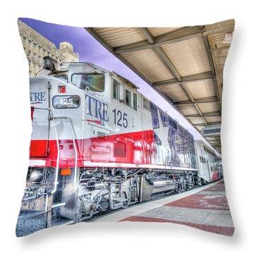 The Trinity Railway Express Tre Throw Pillow
