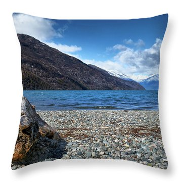 The Puelo Lake In The Argentine Patagonia Throw Pillow