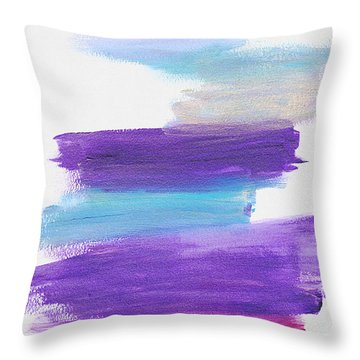 Throw Pillow featuring the painting The Unconscious Mind by Bee-Bee Deigner