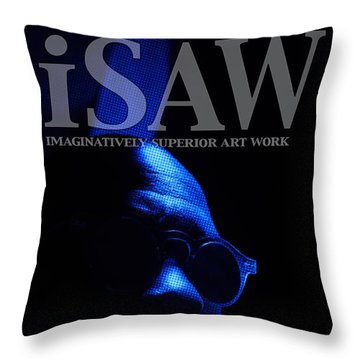 Throw Pillow featuring the digital art The Underground Artist by ISAW Company