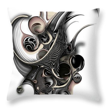 The Unfolding Purity Throw Pillow