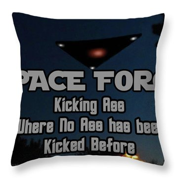 The United States . Space Force Throw Pillow