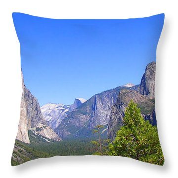 The Valley Of Inspiration-yosemite Throw Pillow