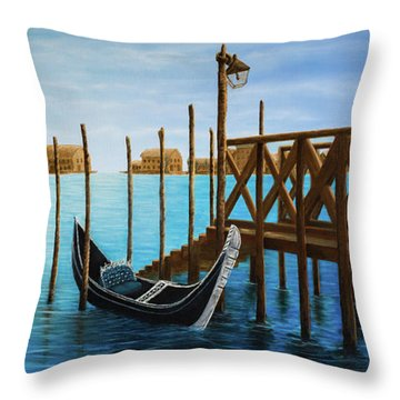 The Venetian Phoenix Throw Pillow