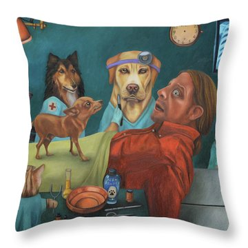 The Vet's Worst Nightmare Throw Pillow