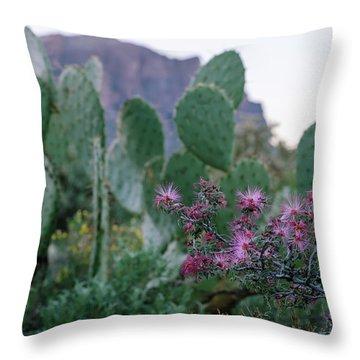 The Vibrant Desert Throw Pillow