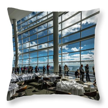 Throw Pillow featuring the photograph The View From 32 by Randy Scherkenbach