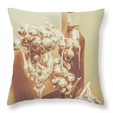 The Vine Cellar Throw Pillow