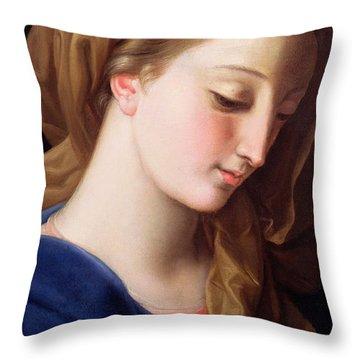 The Virgin Annunciate Throw Pillow