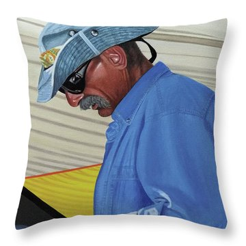 Throw Pillow featuring the painting The Voyageur by Kenneth M Kirsch