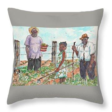 The Washington's - Our Neighbors On The Farm Throw Pillow