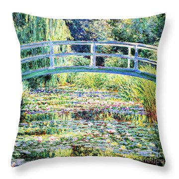 The Water Lily Pond By Monet Throw Pillow