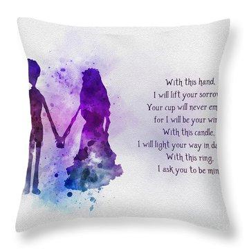 The Wedding Vows Throw Pillow