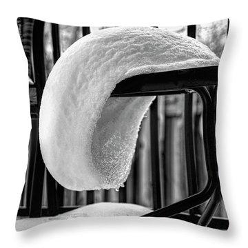 The White Beret Throw Pillow