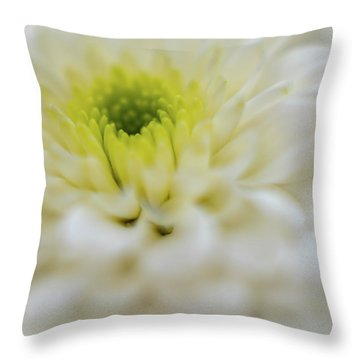 Throw Pillow featuring the photograph The White Flower by Francisco Gomez
