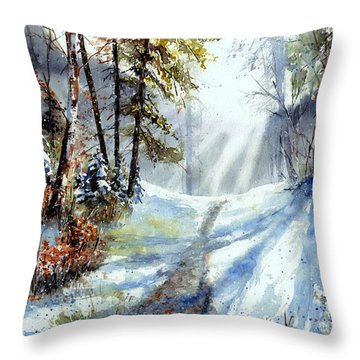Red Squirrel Throw Pillows