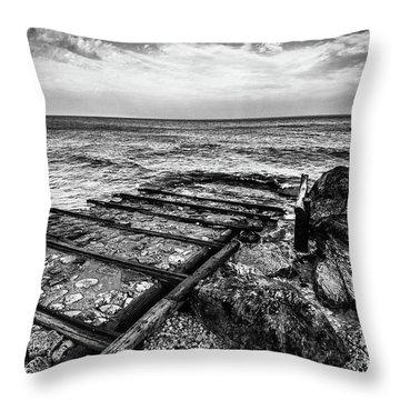 The Winter Sea #6 Throw Pillow