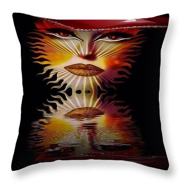The Wizard Lady Of The Sun Throw Pillow