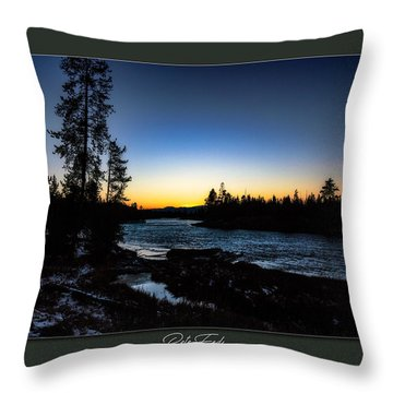 Throw Pillow featuring the photograph The Yellowstone River by Pete Federico