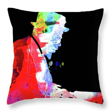 Thelonious Watercolor II Throw Pillow