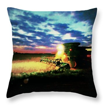 There Goes The Beans Throw Pillow