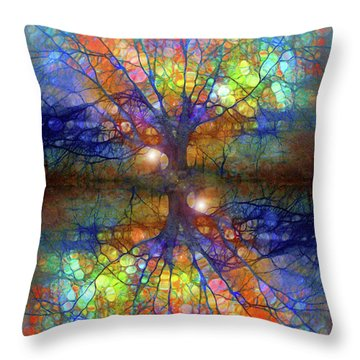 There Is Light Even In These Dark Roots Throw Pillow