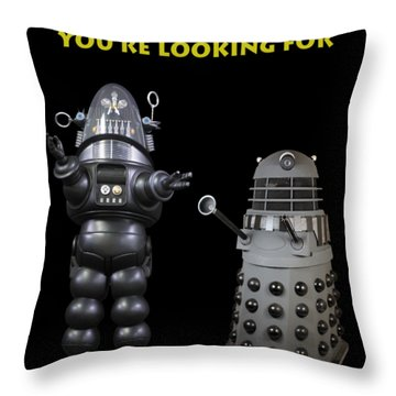 These Aren't The Droids You're Looking For Throw Pillow