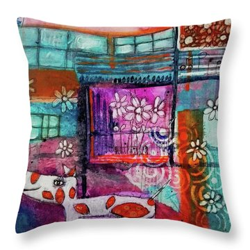 Thinking Happy Thoughts Throw Pillow
