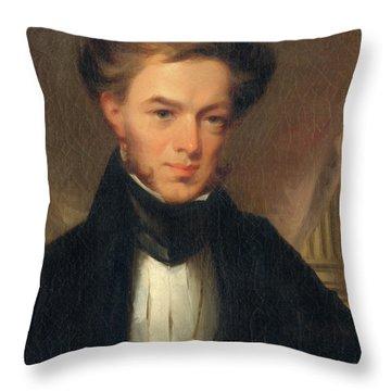 Portrait Of Thomas Ustick Walter, 1835 Throw Pillow