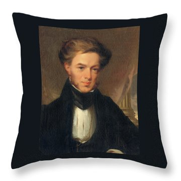 Portrait Of Thomas Ustick Walter, 1835 Throw Pillow